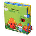 Activity Book Cartoon Soft Baby Educational Toy Cloth Book A Happy Day for Children Learning