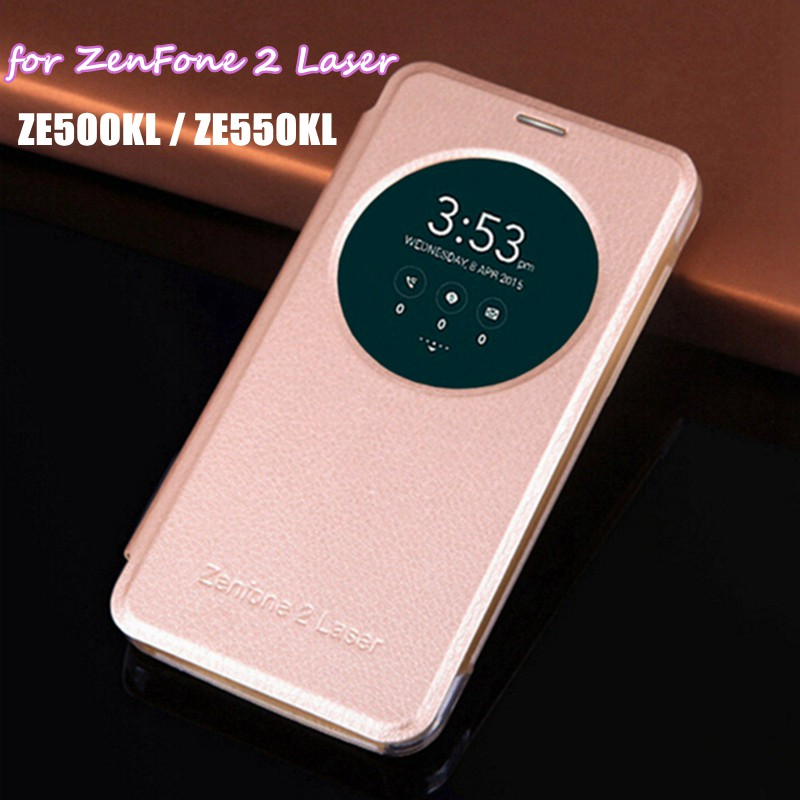 cheap for discount ac16c 1a99e Smart View Magnet Mask PU Leather Case Circle Window Flip Cover For Asus  Zenfone 2 Laser ZE500KL ZE500KG 5.0 ZE550KL ZE551KL 5.5-in Flip Cases from  ...