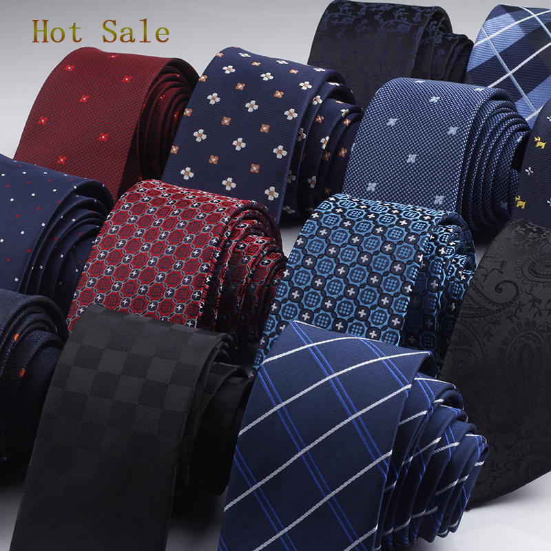 GUSLESON 960 Needles 6cm Men Neck Ties Fashion Dot Striped Plaid Necktie Gravata Slim Tie Classic Business Wedding Tie For Men