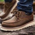 Весна осень вообще кожа мужчины случайные сапоги работа оснастки кожа мужская обувь
