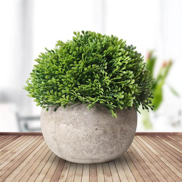 Artificial Plastic Potted Green Plant
