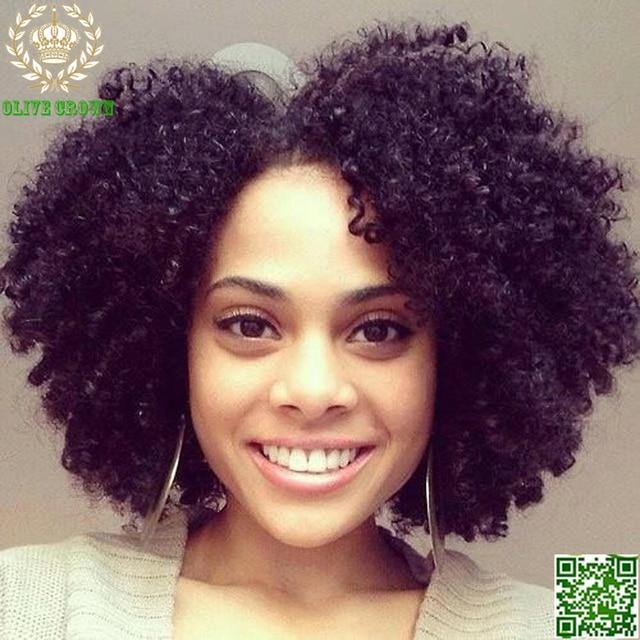 Afro Kinky Curly U Part Human Hair Wigs Bob Virgin Mongolian Upart ...