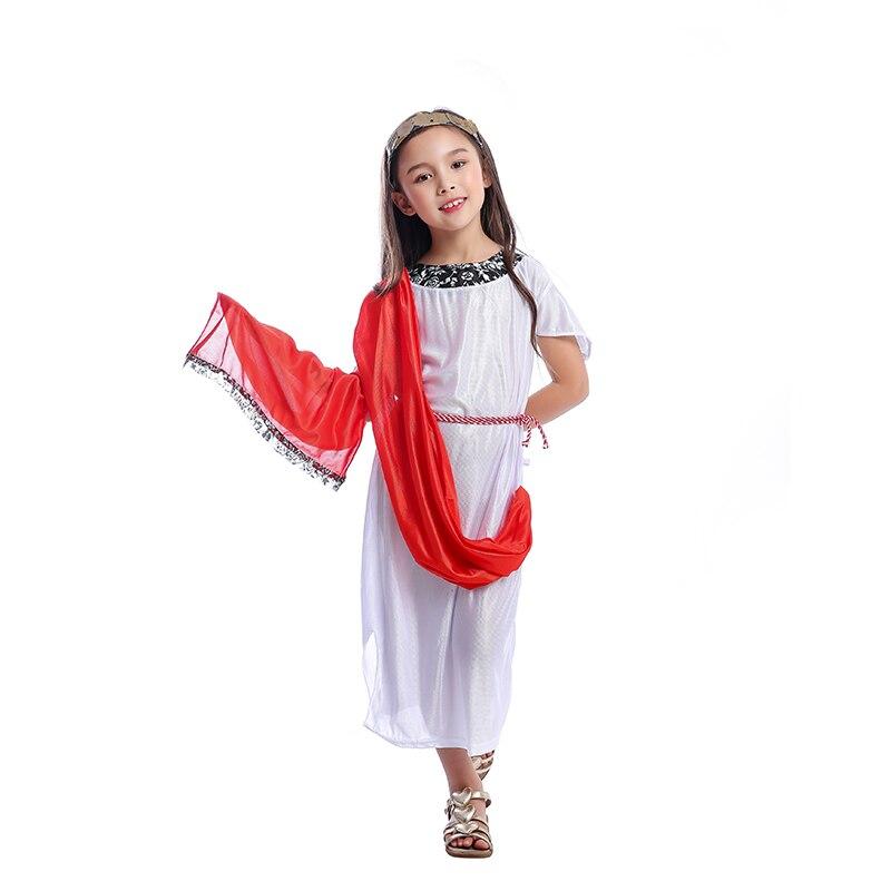 Halloween Girls Princess Fancy Dress Up Costume Outfits: Girls Ancient Roman Princess Greek Goddess Fancy Dress Up