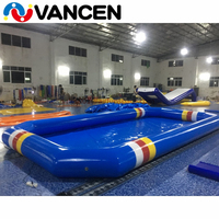 Fashion design summer inflatable adult swimming pool outdoor single tube inflatable swimming pool for sale