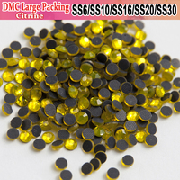 Bulk Packing Strass All Size Hot Fix Heat Transfer Design Citrine Iron On Hotfix Rhinestones For Pretty stoning pattern