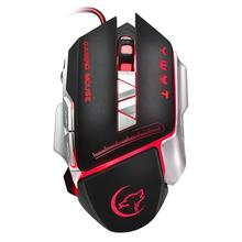 ALLOYSEED Wireless Gaming Mouse 3200dpi Rechargeable 8 keys Backlight Breathing Comfort Gamer Mice for Computer Desktop Laptop