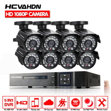 Home Security 8CH 1080P HDMI DVR Outdoor AHD 1080P CCTV Camera System 8 Channel Video Surveillance Night Vision Kit With 1TB HDD h view security camera system 8ch cctv system 8 x 1080p cctv camera surveillance system kit camaras seguridad home 1tb hdd