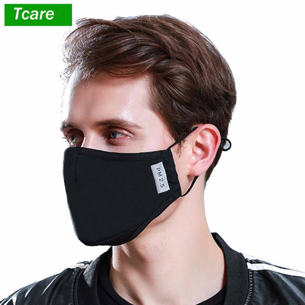 Men's Accessories Steady Face Mask Cotton Mouth Mask Black Anti Haze Dust Masks Filter Windproof Mouth-muffle Bacteria Flu Fabric Cloth Respirator Apparel Accessories