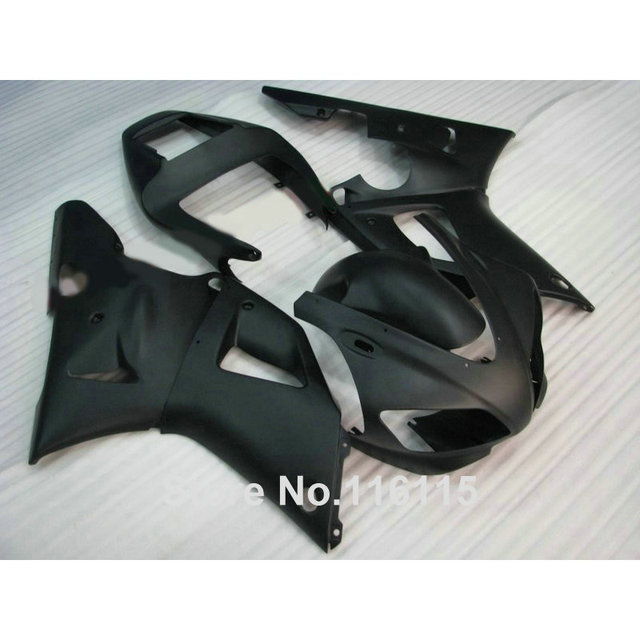 Injection molding ABS fairings set for YAMAHA 1998 1999 YZF-R1 all matte black YZF R1 98 99 high grade fairing kit YS63