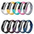 De alta Calidad de Silicona Suave Fitbit Alta Reloj de Bandas de Metal Pulsera Accesorios de Reemplazo con Correa Ajustable Seguro