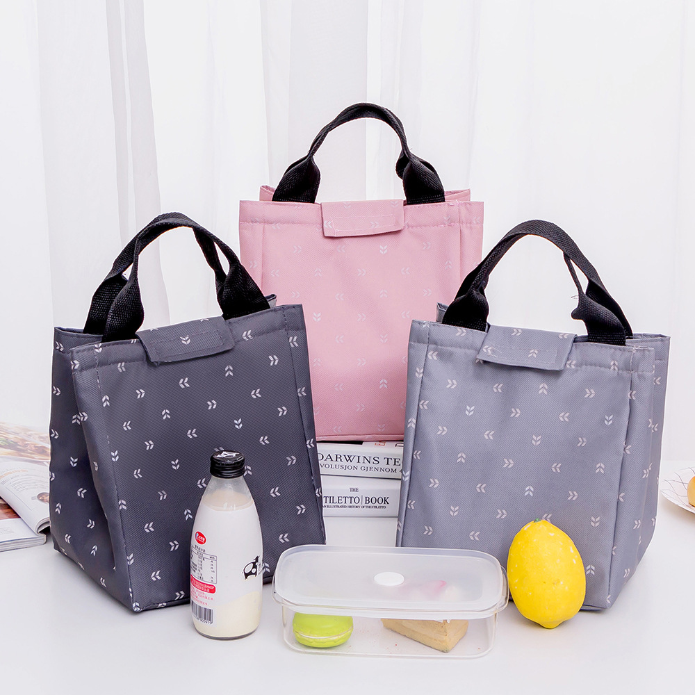 women girls Reusable Thermal Foldable Outdoor picnic insulation Cooler portable ice Lunch Tote box Bag for Picnic Travel