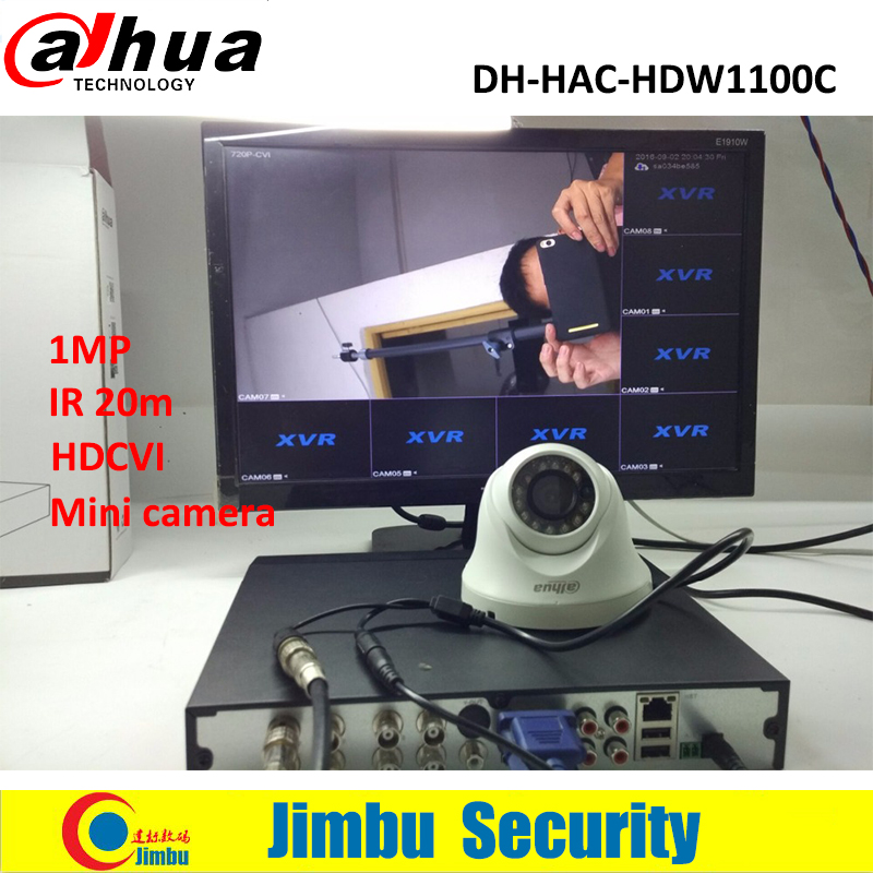 DAHUA HDCVI HAC-HDW1100C DOME mini Camera 1MP CMOS 720P lens6mm IR 20M IP66 security camera HDW1100C 2017 new top fashion time limited relogio masculino mans watches sale sport watch blacl waterproof case quartz man wristwatches