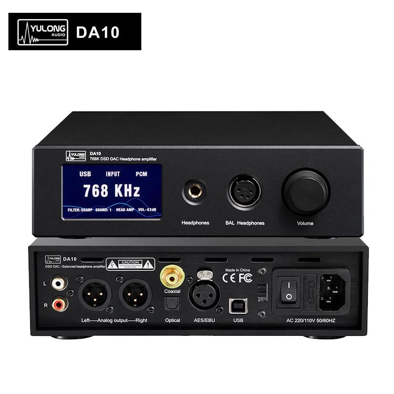 Yulong DA10 AK4497 768K DSD DAC amplificateur casque simple/équilibré