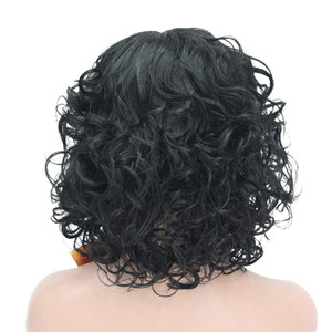 Image 3 - StrongBeauty Womens wig Black/Dark brown Medium Curly Hair Natural Synthetic Full Wigs