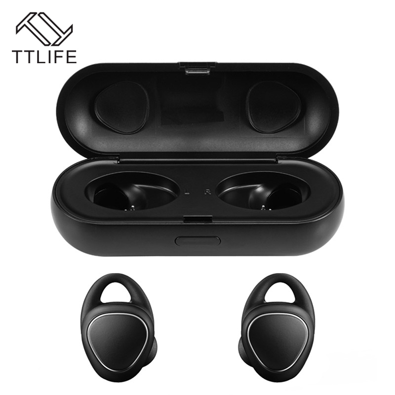 TTLIFE TWS Wireless Mini Bluetooth Earphone Sport Super Bass Stereo Sweatproof Headset with Microphone For IPhone Airpods Xiaomi 2017 ttlife mini wireless earphone bluetooth headsets airpods with mic 2 in 1 with car charger for iphone 7 xiaomi mobile phones