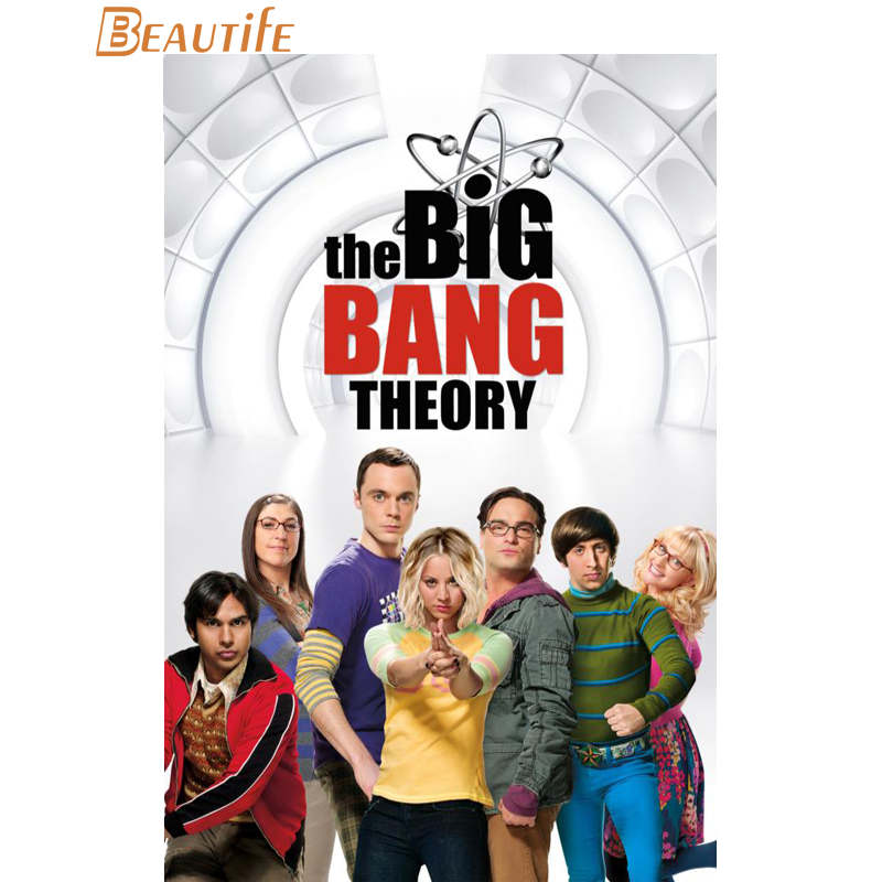 Custom The Big Bang Theory Poster Cloth Silk Poster Home Decoration Wall Art Fabric Post ...