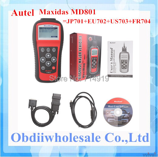 Prix pour 2017 DHL Livraison Gratuite MD 801 Scanner Très Fonction MD801 lecteur de code Autel MD801 maxidiag MD-801 outil d'analyse MD 801 scanner