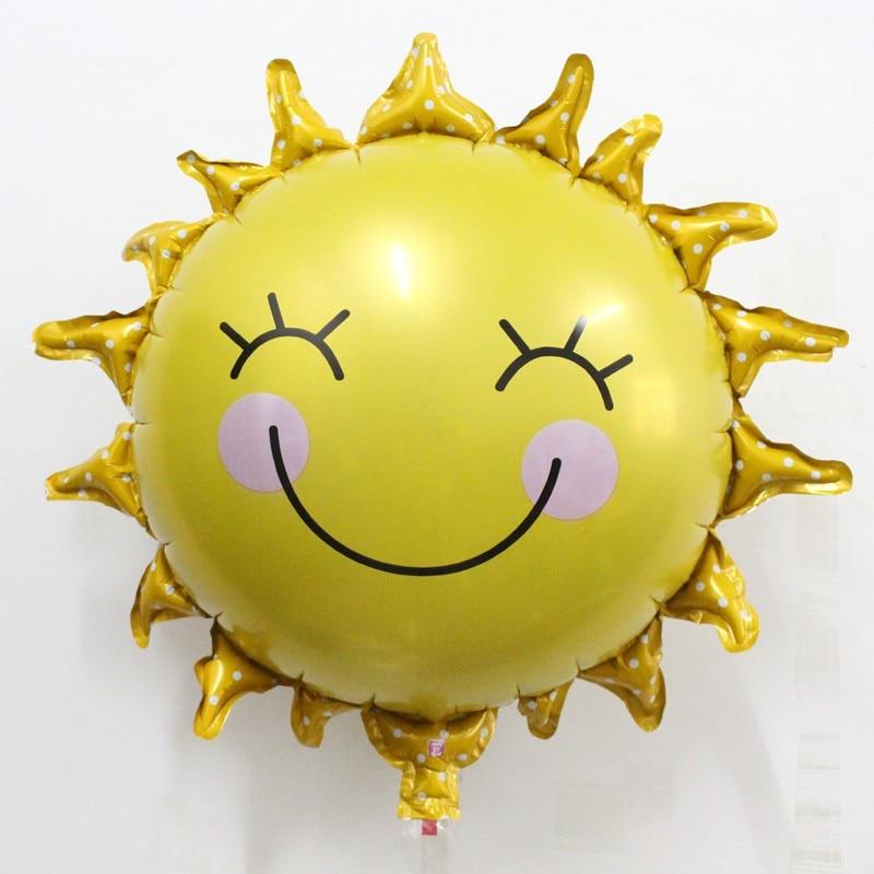Acheter Nouvelle arrivée 50 pcs/lot en gros Soleil Feuille ballon de fête D'anniversaire décoration jouet de Dessin Animé ballon d'hélium vente Chaude de balloons birthday fiable fournisseurs