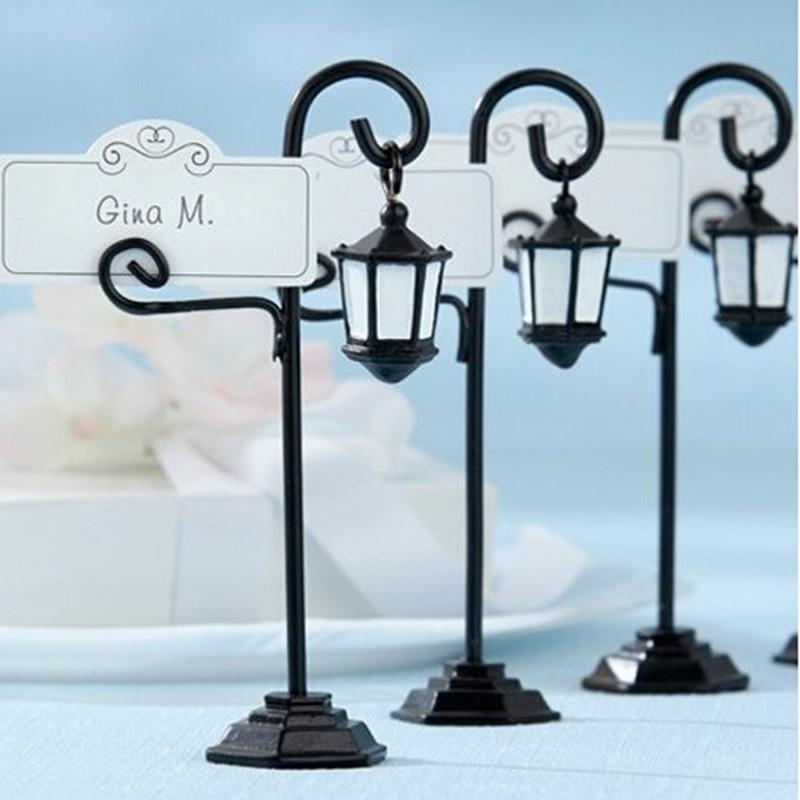 Creative Gifts Wedding Seat Clip Supplies Ornament European Creative Street Lamp Card Folder /card Holder Seat Card Street Lamp