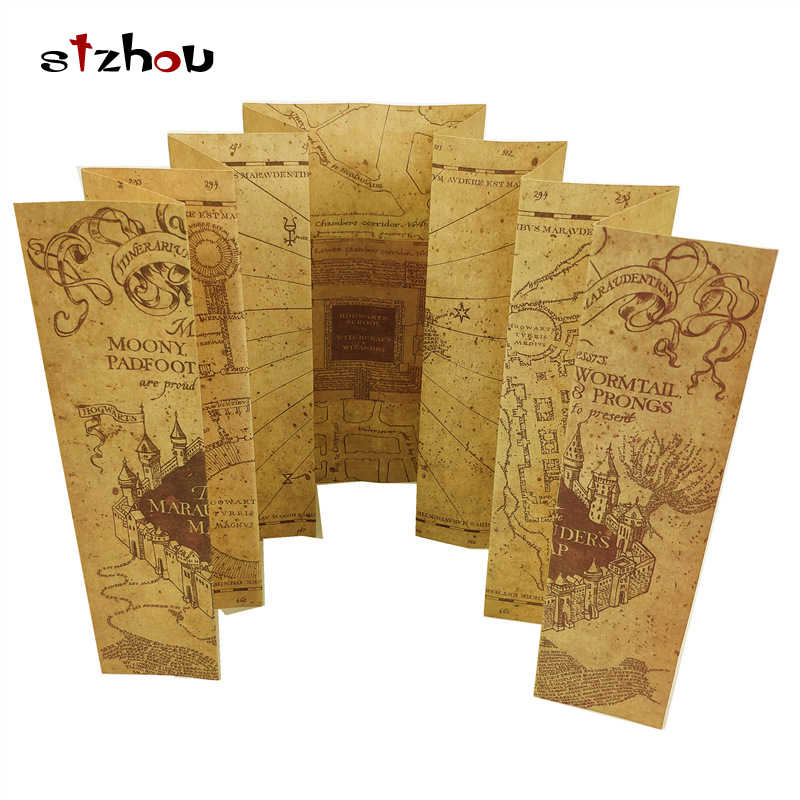 Harry Potter Map The Marauder's Map Hogwarts Live Point Map Harri Potter Posters Hogwarts Express Ticket and Knight Bus Ticket