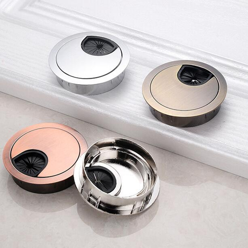 Best Seller Table Wire Hole Cover Base Round 60mm Computer Desk Grommet Cable Wire Outlet Port Wire Organizer Furniture Hardware