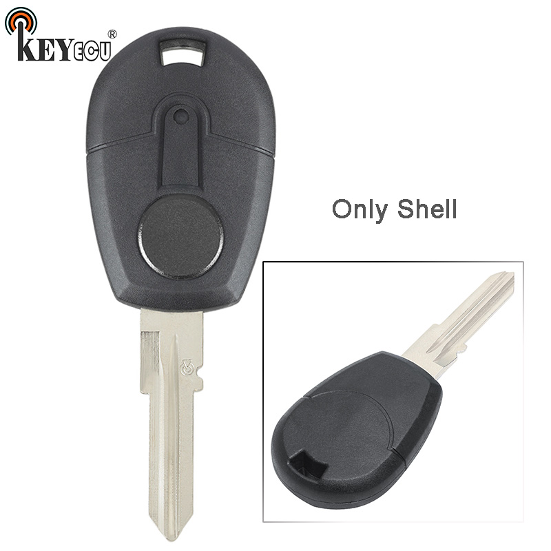 KEYECU for <font><b>Fiat</b></font> Positron EX300 <font><b>Replacement</b></font> Tansponder <font><b>Key</b></font> Cover Auto Shell Case Blank <font><b>Fob</b></font> GT15R Blade image