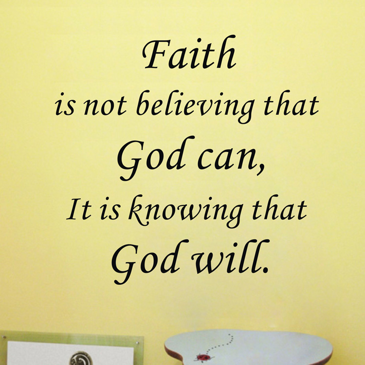 Inspirational God Quotes Stunning Amazon Hot Faith Is Knowing That God Will Vinyl Wall Art Quote