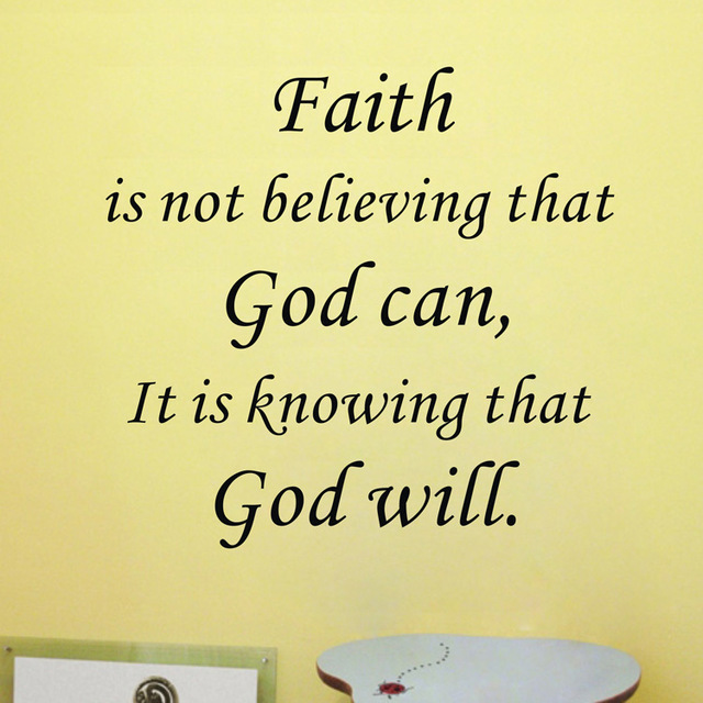 Faith In God Quotes Best Aliexpress Buy Amazon Hot Faith Is Knowing That God Will Vinyl