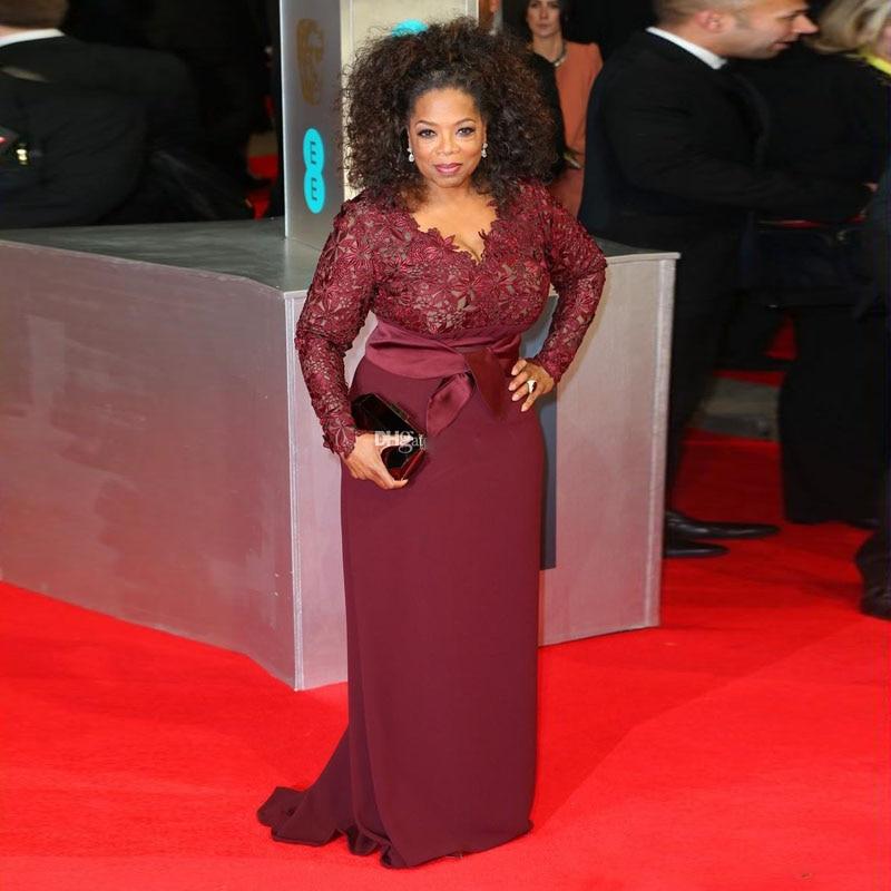 Elegant Celebrity Dress Women Plus Size Evening Dresses 2019 Lace Long  Sleeve Evening Gowns A Line Formal Mother Party Dress