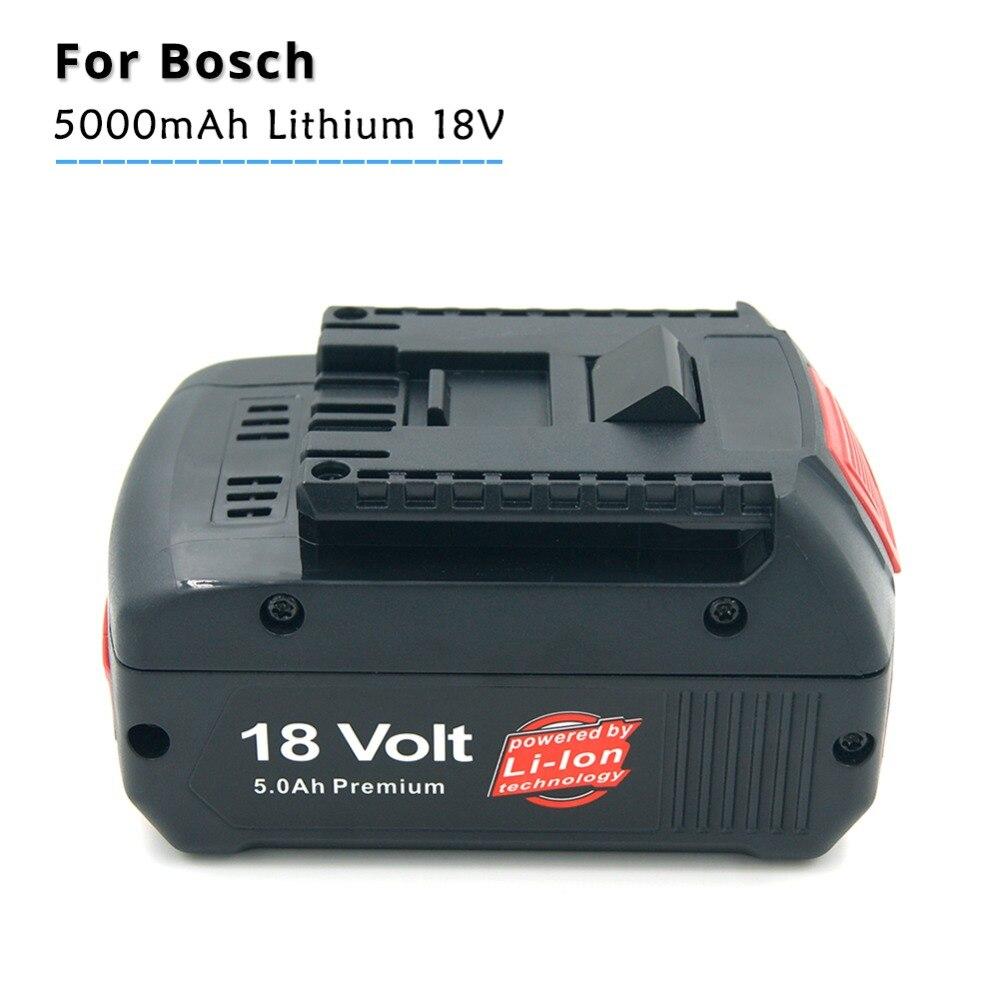 18 v Au Lithium Ion 5000 mah Outils Batterie pour Bosch BAT609 BAT618 2607336169 BAT618G BAT609 avec la Lumière Led De Puissance