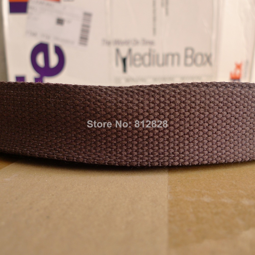50 Yards 1 25 32mm 14 Brown Color High Quality Bag Straps Polyester Webbing