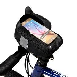 Roswheel Sahoo Series 112003 jazda na rowerze rowerów Bike Head kierownica rurowa telefonu komórkowego etui na telefon etui na uchwyt Pannier 6.5in telefon|Torby i sakwy rowerowe|   -