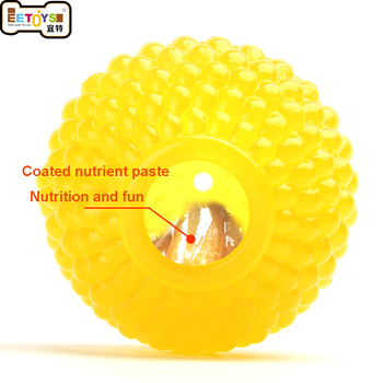 3 Sizes Educational Interactive Pet Dog Toys Rubber Ball Puppy Chew Toys Dog Treats Dispenser Food Leakage Ball Bite-Resistant 1
