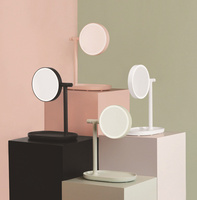 Flip Up Creative Makeup Mirror Light LED Lights Charging Desktop Magnification Lens Princess Toilet Glass Lamp Desktop