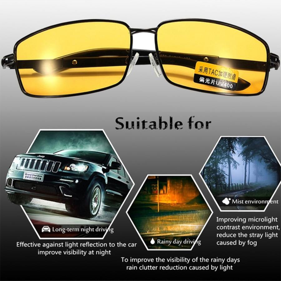 5d04193bad04 Night Vision glasses Polarized Sunglasses Men high end Goggles ...