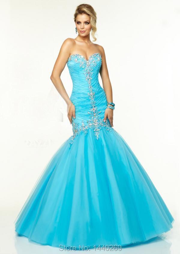 Light Blue Mermaid Prom Dress - Missy Dress