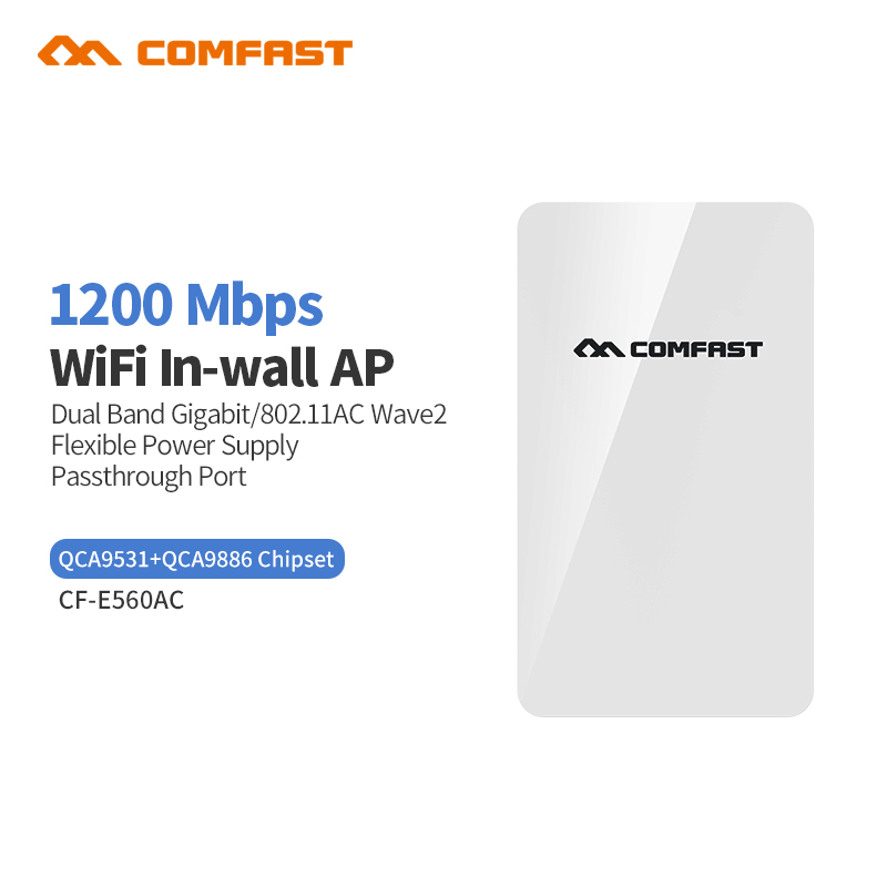 Comfast CF-E560A 1200Mbps dual Band Gigabit Wireless in Wall AP 4 lan ports home Wifi coverage Wall ap Flexiable power supply фильтры атолл a 560