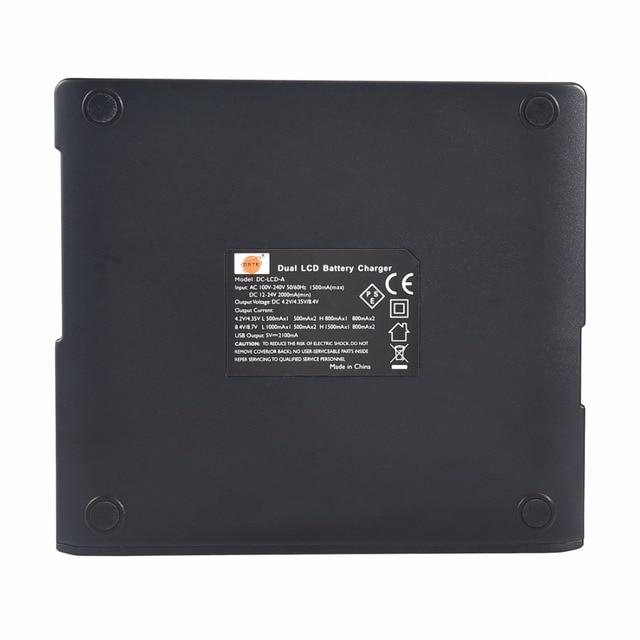 DSTE LCD16A Double Chargeur De Batterie avec Le Port DUSB pour Sony NP-BK1 BY1 Li-50B Li-60B li-90B EN-EL11 D-LI92 DB-80 VW-VBX090 CNP-150