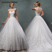SIJANEWEDDING SIJANE Cap Sleeves Wedding Dresses Ball Gown