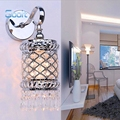 Fashion Modern Art High Grade Crystal Wall Lamp For Home Bedroom Living Room Decoration Wall Light Iron Hollow Out Luxury Style