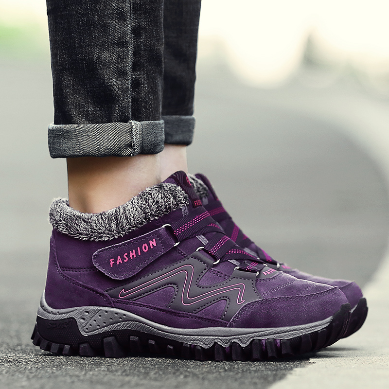Outdoor Activities In The Elderly Walking Shoes and Velvet Warm Outdoor Shoes Non slip Shoes High