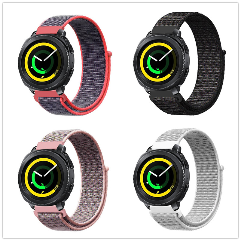 Watch Band Wrist Strap for Samsung Gear Sport Gear S2 Classic Gear S3 Frontier Classic 20 22 mm Quick Release Woven Nylon sport earphones headset for samsung galaxy series gear live s s2 s2 3g s3 frontier lte classic 3g mobile phone earbuds earpiece