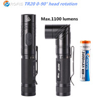 ROFIS TR20 1100LM CREE XP L HI V3 LED 90 Degree Head Rotation Rechargeable Light