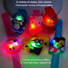 Functional Bracelet Cute Cartoon Pink Cat Doraemon Luminous For Boys Girls Kids Birthday Party Festive