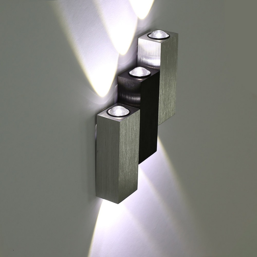 TAMPROAD Modern 6W LED Square Wall Lamp Hall Porch Walkway Living Room Light Bedroom Light Fixture Luminaria Externa Para Parede