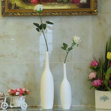 1pcs Chinese Porcelain Nordic Modern Ceramic White Vase Ornaments Creative Home Decoration Tabletop Vase Handmade Handicrafts