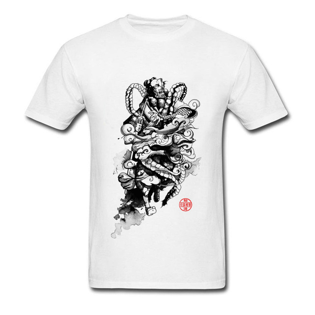 3578ce939 Biggie Smalls T Shirt Ink Samurai Wrestling T-Shirt Mens Unique Design Japanese  Karate Tshirt Oversized Plain O Neck Tees