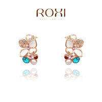 ROXI Earring Gold Plated Brinco 18K Gold Pendientes Brincos Fine Jewelry Pearl Jewelry Aros de plata 925 Christmas gift