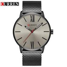 Новинка, мужские часы CURREN, Топ бренд, роскошные спортивные кварцевые часы, мужские повседневные с сетчатым ремешком, водонепроницаемые наручные часы для мужчин, s Relogio Masculino