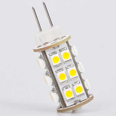Gratis Pengiriman 25 LED G4 Lampu 3528 SMD Lebar Volt 12V & 24V 180-200LM Dua Pin Spot bohlam Lampu Hangat Putih 1 Pcs/lot